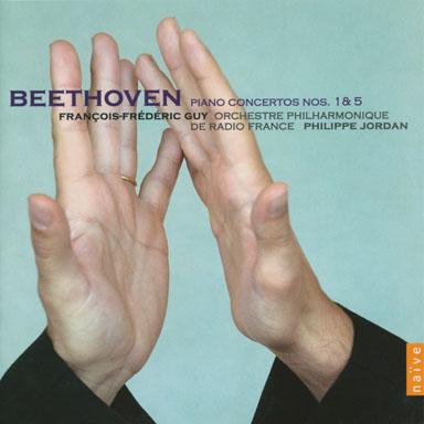 """Ludwig Van Beethoven - Piano & orchestra concerto No. 1 in C Flat major op. 15 - Piano concerto et orchestra No. 3 in E flat major op. 73 """"Emperor""""- Orchestre philharmonique de Radio France - Philippe Jordan - Cd Naïve - 2008"""
